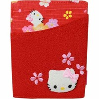 Red SAKURA Hello Kitty Card Case