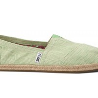 TOMS Lime Green Space-Dyed Women's Classics Slip-on Shoes,