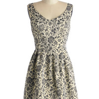 Jack by BB Dakota Mid-length Sleeveless A-line Glimmer and a Movie Dress