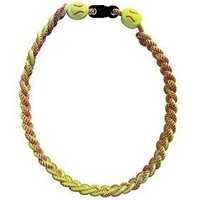 Titanium Ionic Braided Necklace - Softball