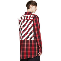Red & Black Flannel Check Shirt