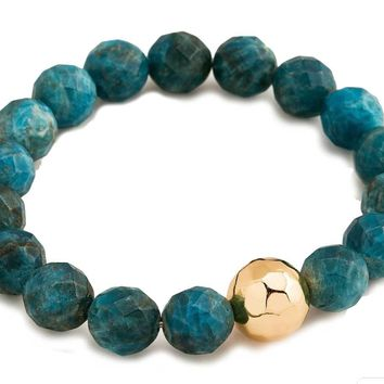 Gorjana Apatite Inspiration Power Gemstone Statement Bracelet