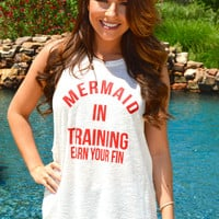 Mermaid in Training Tank