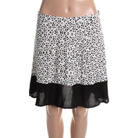 Impulse Womens Animal Print Colorblock Mini Skirt