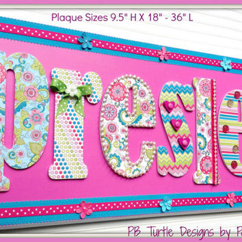 Large Custom Personalized Name Plaque Kids Sign Nursery Door
