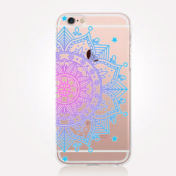 Transparent Mandala Phone Case- Transparent Case - Clear Case - Transparent iPhone 6 - Transparent iPhone 5 - Transparent iPhone 4