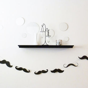 6 feet - MUSTACHE moustache Mustashe Banner garland - The Perfect addition to your Little Man Dude Birthday Bash Party Baby Shower Wedding