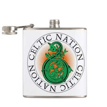 Celtic Nation Dragon Flask St. Patrick's Day