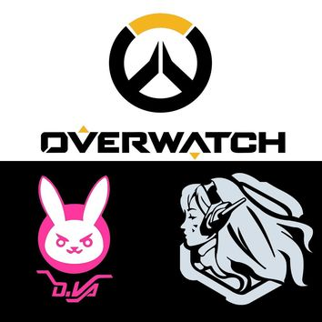 Overwatch logo D.VA Bunny Car Decals