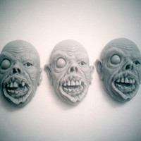 Zombie Apocalypse Head Face Brain Soap Set of 5