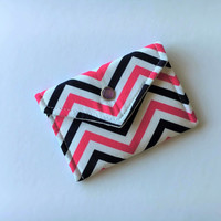 Gift Card Holder Pink Blue Chevron Gift for Coworker