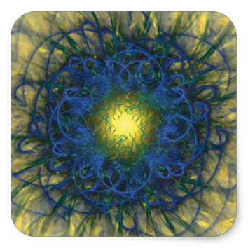Fractal Art Square Sticker