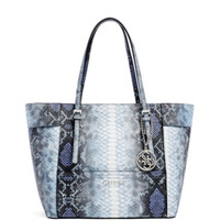 Delaney Python-Embossed Small Classic Tote