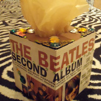 The Beatles second album TISSUE BOX HOLDER Cool Stuff Made From Records