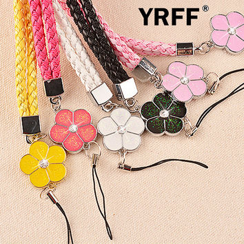 Flower phone Lanyard Rope, Fashion Cartoon mobile phone straps lanyard accessories phone Camera Universal Lanyard Rope