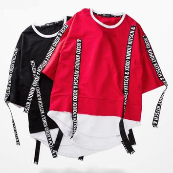 One-nice™ Fashion letters Hip hop street dance T-shirt top