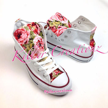 Custom Floral High Top Converse -made to order- any size