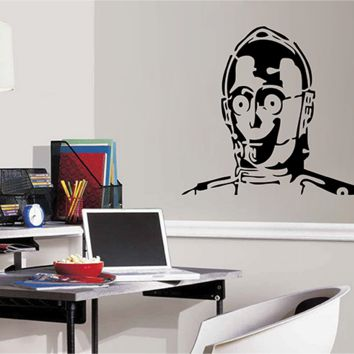 ik2714 Wall Decal Sticker robot droid character Star Wars children's room teenager