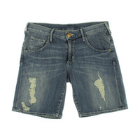 True Religion Womens Miles Stony Point Destroyed Denim Shorts