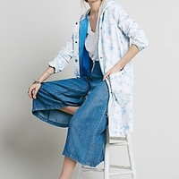 Free People Womens Floral Ripstop Coat