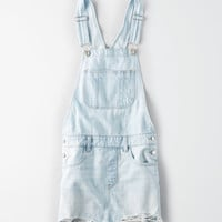 AE Ripped Denim Overall Skirt, Beautiful Bleach Out
