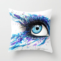 Open your eyes Throw Pillow by PeeGeeArts