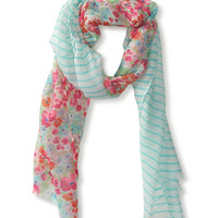 PS from Aero  Kids' Floral & Stripe Scarf