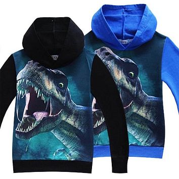 Kids boys t shirts 3D Printed Hoodies Big Boy Sweatshirt Clothes Summer Autumn Boys Girls Dinosaur Pattern Long Sleeve T-Shirts