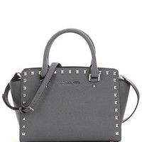 Michael Michael Kors Medium Selma Studded Saffiano Satchel