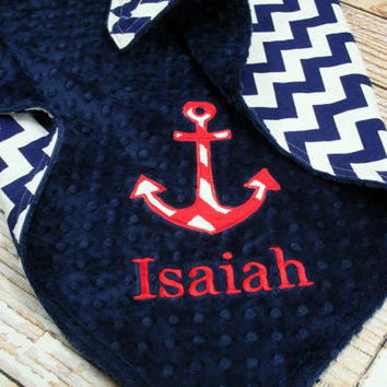 Personalized Anchor Blanket - Choose Your Colors and Fabrics