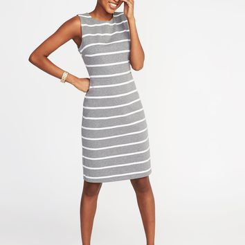 Sleeveless Ponte-Knit Sheath Dress for Women |old-navy