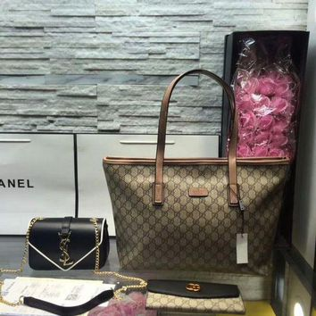 DCC3W Year-End Promotion 3 Pcs Of Bags Combination (Gucci Bag ,YSL Mid Bag ,Gucci Wallet)