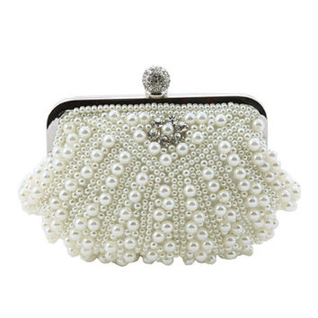 Women Pearl Shell Evening Bag