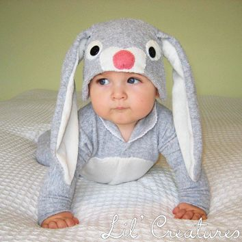 Bunny Rabbit Baby Onesuit Costume with Hat  Lil' by LilCreatures