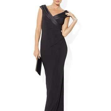 Lauren Ralph Lauren Off The Shoulder Ruched Gown