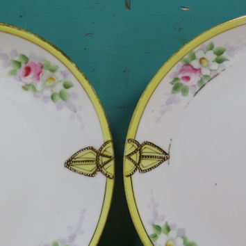 Nippon Bread & Butter or Dessert Plates • Beautiful Antique China • Circa 1912 • Nippon Japan • 2 Plates