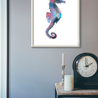 Seahorse art, seahorse print, wall art, home decor, printable wall art, print gift, printable home decor, wall decor, instant download art