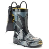 Western Chief Batman Everlasting Toddler Boys' Rain Boots (Black)