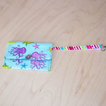 Wrist Strap and Key Clip Fabric Wallet for Walkers Selection of 5 Choose One