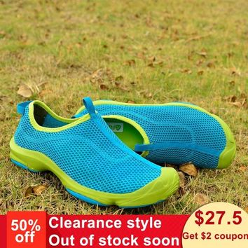Rax Summer Hiking Shoes Men Breathable Quick Drying Camping Fishing Sneakers Outdoor Jogging Shoes Lightweight Air Mesh50-5R318