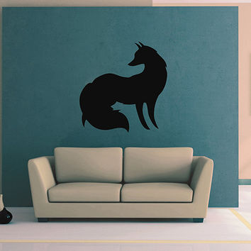 kik2947 Wall Decal Sticker animal fox living room bedroom