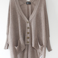 Lazy loose bat hollow sweater A 072902 a