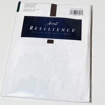 Vintage HANES Resilience Control Top Panty Hose,D01 Barely There,Discontinued Hanes Hosiery,Size AB,Unworn Hosiery,Sheer Leg,Reinforced Toe