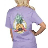 Lauren James Sweet Tee Collection Southern Pineapple Pocket T-Shirt