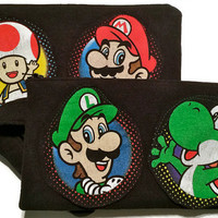 Luigi Bag Upcycled Super Mario Brothers Clutch