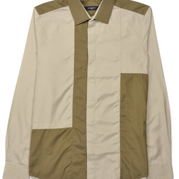 Givenchy Mens Olive Pure Cotton Button Down Shirt
