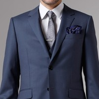 PREMIUM BLUE PINSTRIPE THREE-PIECE SUIT