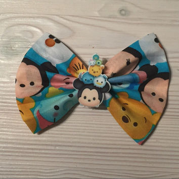Disney inspired tsum tsum oversized hair bow - Baby toddler hair bow -adult hairbow -disney bow