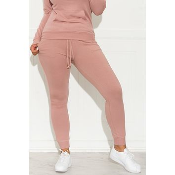 Set You On Track Jogger  Mauve