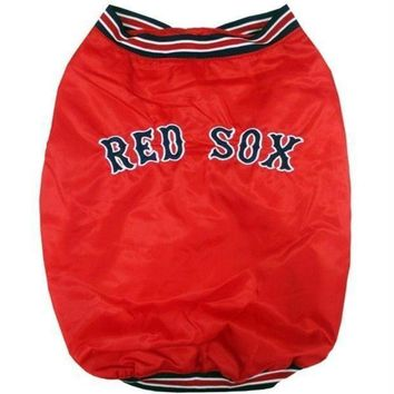 ONETOW Boston Red Sox Pet Dugout Jacket